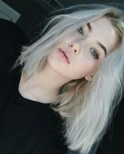 белые волосы фото короткие
