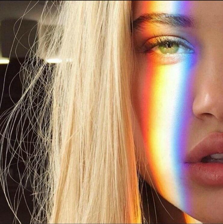 Как сделать радугу на лице для