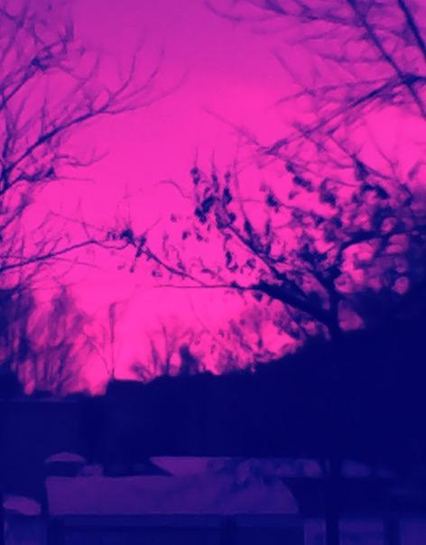 Как называется розовый эффект на фото