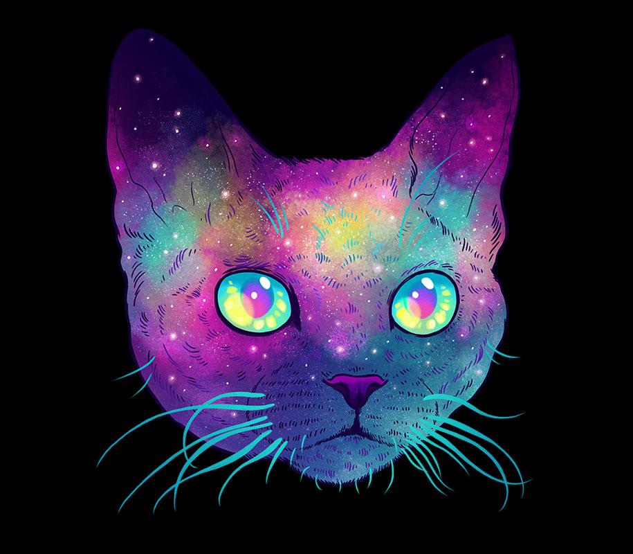 Кот космический картинка