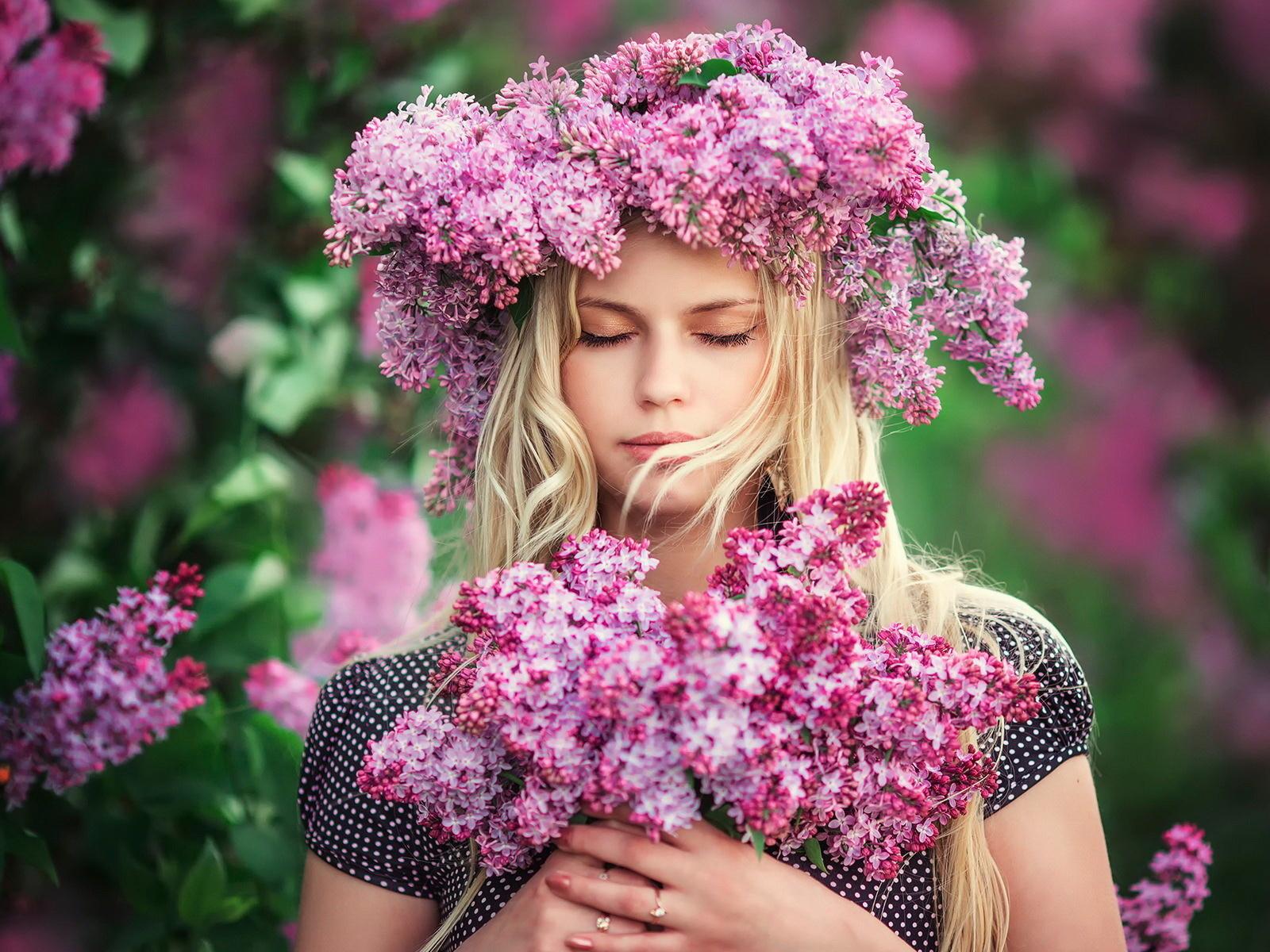 Картинки цветы девушки фото