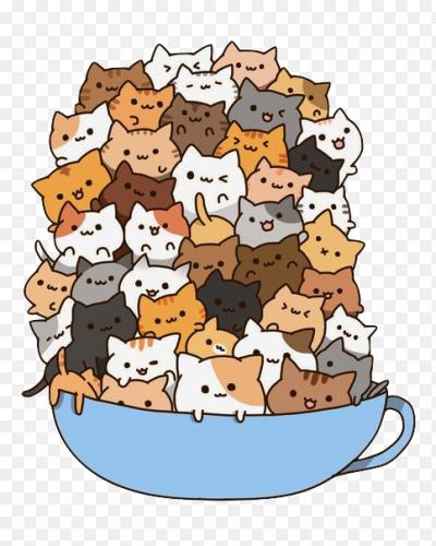 картинки котики няшки аниме
