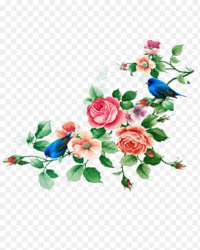клипарт рамка из цветов