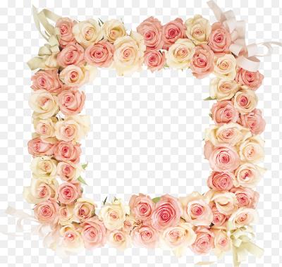 Рамка цветы пнг