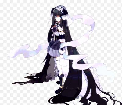 Девушка арт с длинными волосами