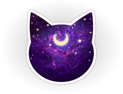 Луна и кот картинки