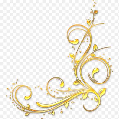 Gold Border Vector Png Wedding Invitation Card Golden: Наклейка узор золотой PNG