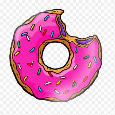 Как нарисовать надкусанный пончик