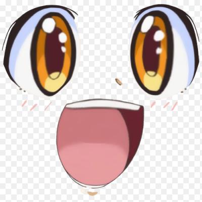 Наклейка Аниме лицо PNG