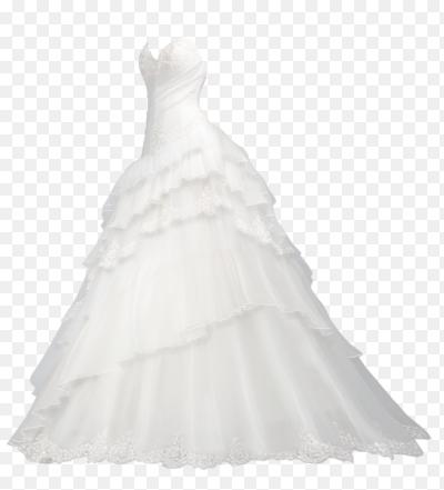 Свадебное платье на белом фоне