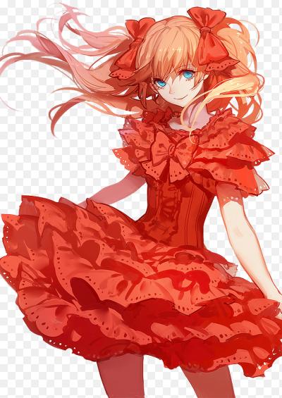 Аниме арт тян в платье