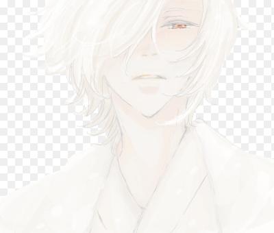 Парень белые волосы аниме
