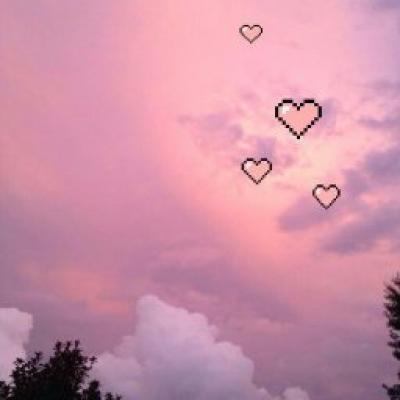 Розово фиолетовое небо