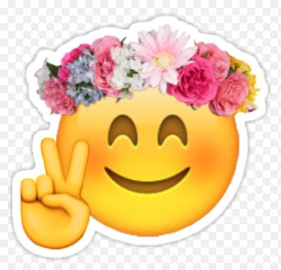 Картинки по запросу смайлик с цветочками