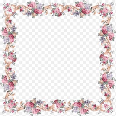 Рамка с цветами png