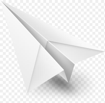 бумажный самолетик картинка