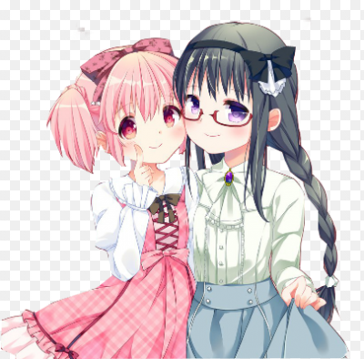 картинки аниме 2 лучшие подруги