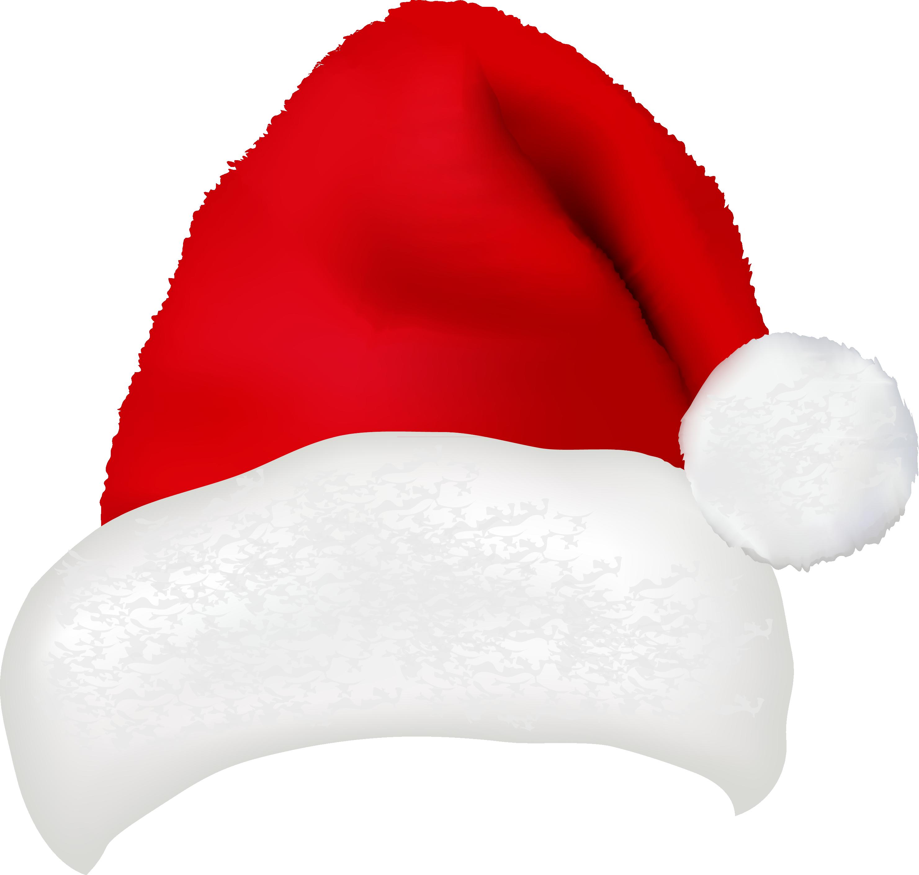 Картинка новогодней шапки деда мороза