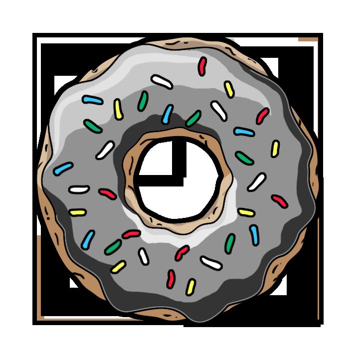 пончик картинки нарисованный