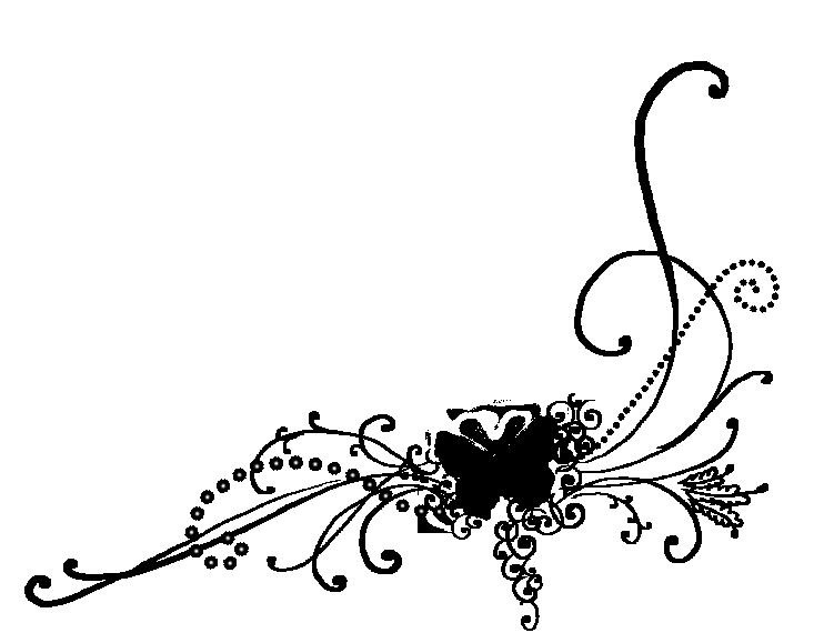 Клипарт черно-белого узора