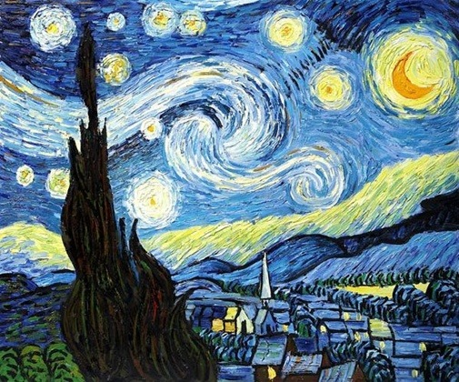 an analysis of the starry night an oil painting by vincent van gogh Hand painted oil reproduction of a famous vincent van gogh painting, starry night over the rhone the original masterpiece was created in 1889.