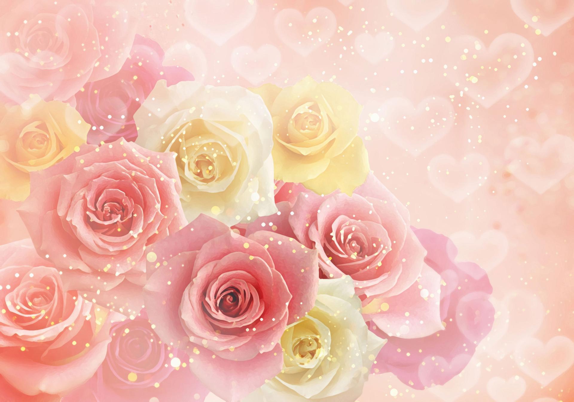 Розовые открытки, открытки
