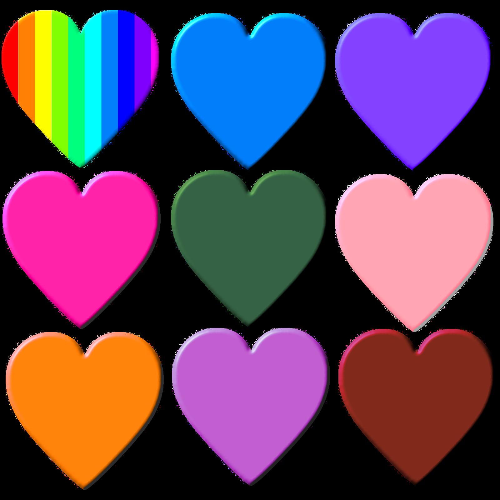 Сердце цветная картинка