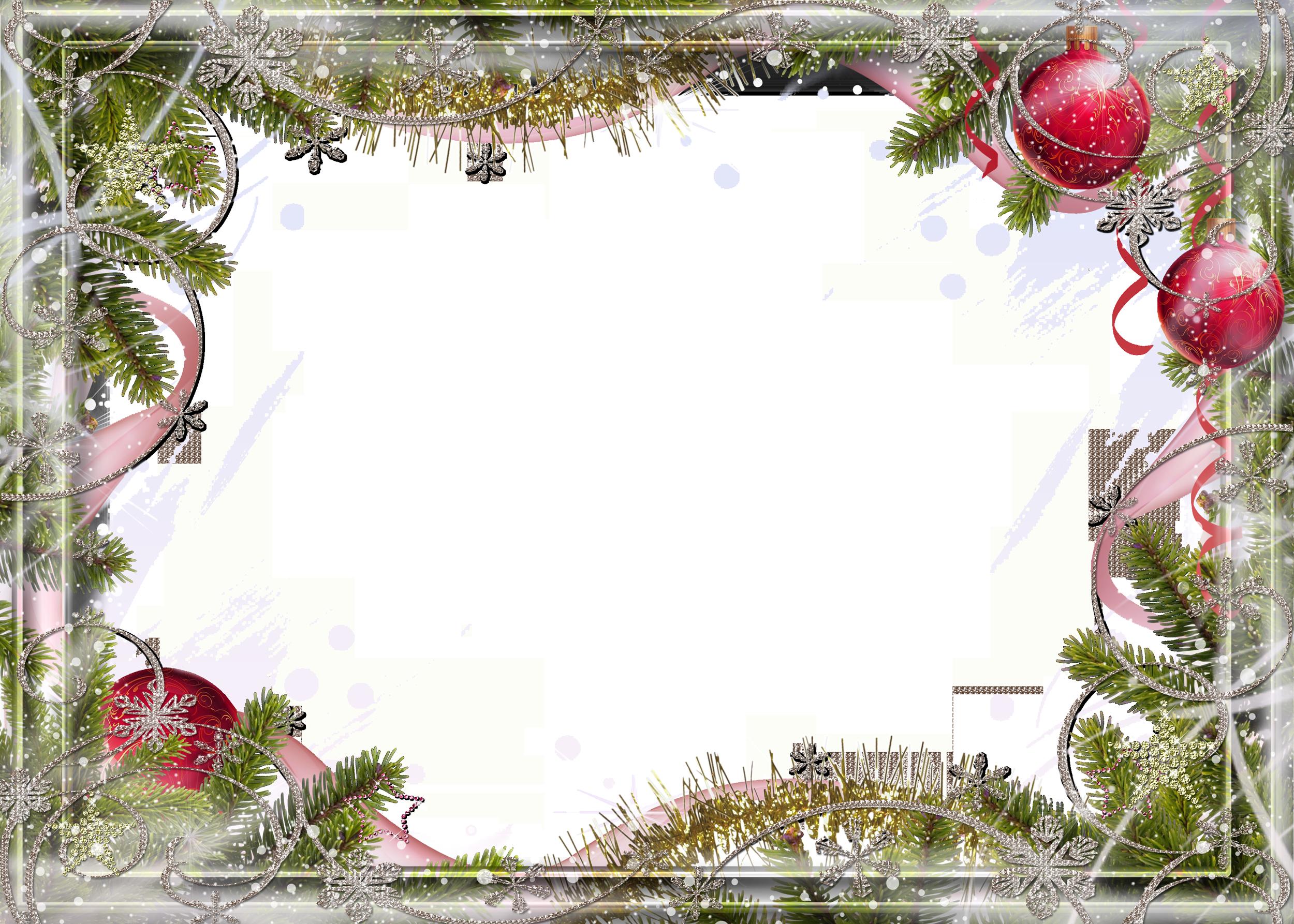 Рамка зимняя для открытки