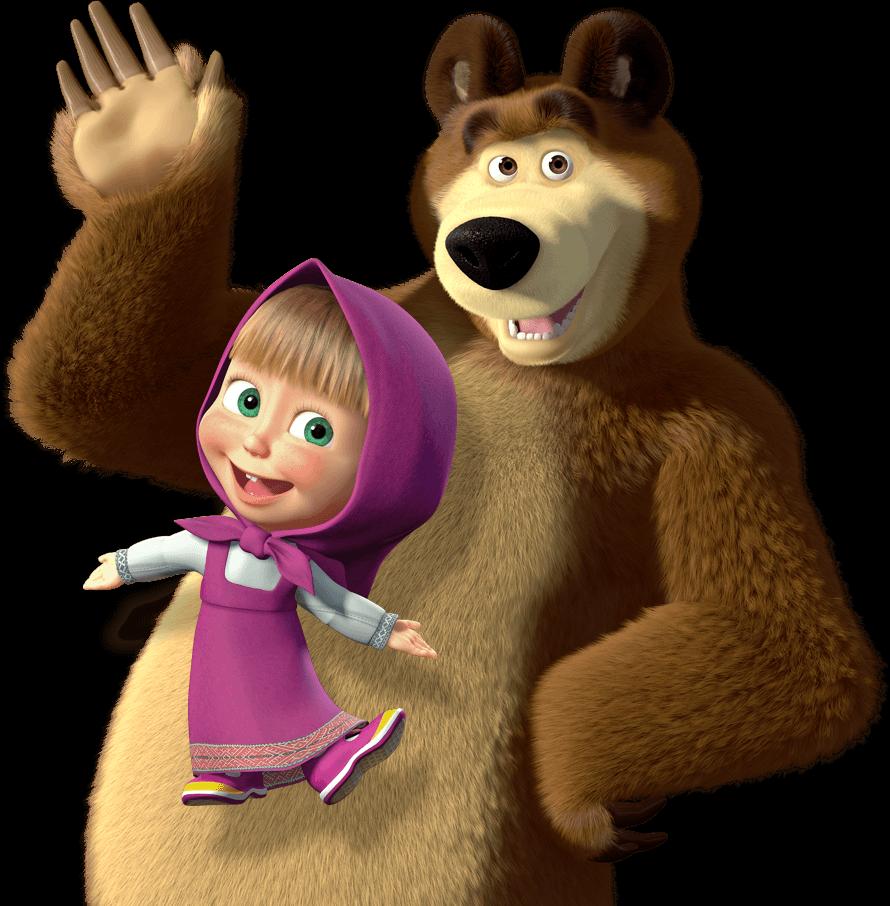 Маша из мультика маша и медведь картинки, открытка новому
