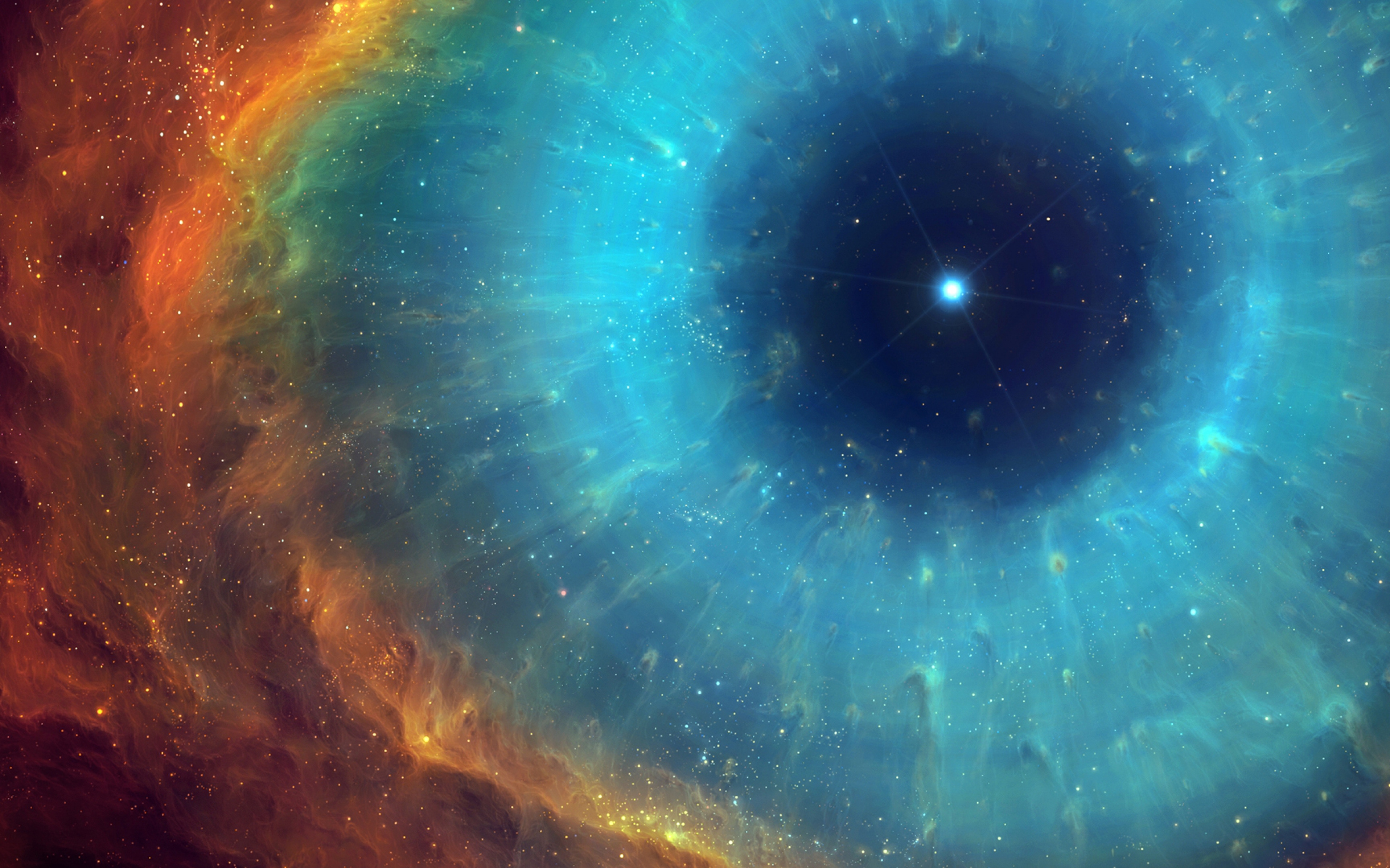 The Ring Nebula also catalogued as Messier 57 M57 or NGC 6720 is a planetary nebula in the northern constellation of Lyra Such objects are formed when a shell of