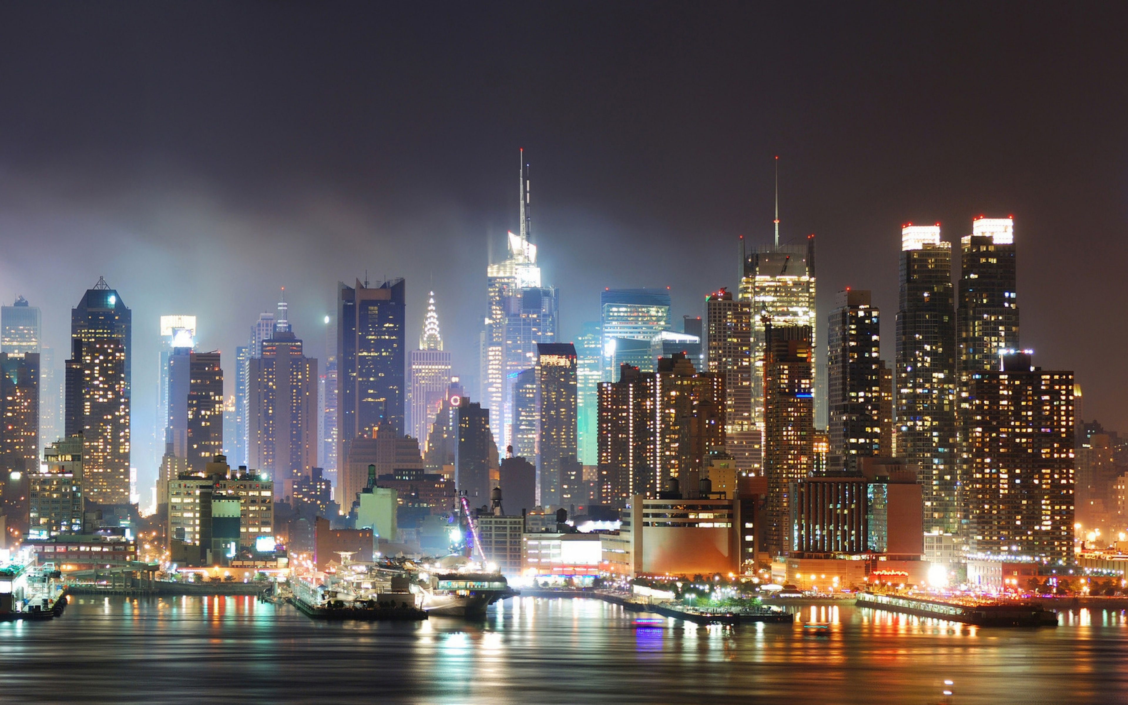 Ночные города америки картинки