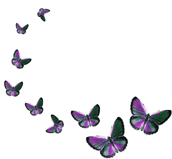 Бабочки на прозрачном фоне для фотошопа анимация
