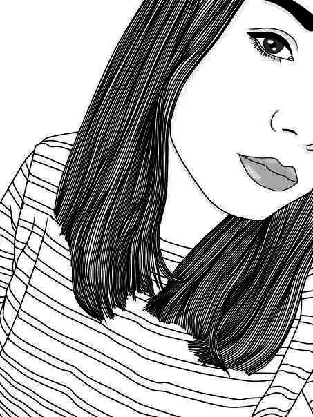 Тумблер девушки рисунки лицо