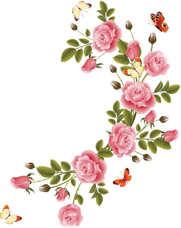 Узор розы для открытки