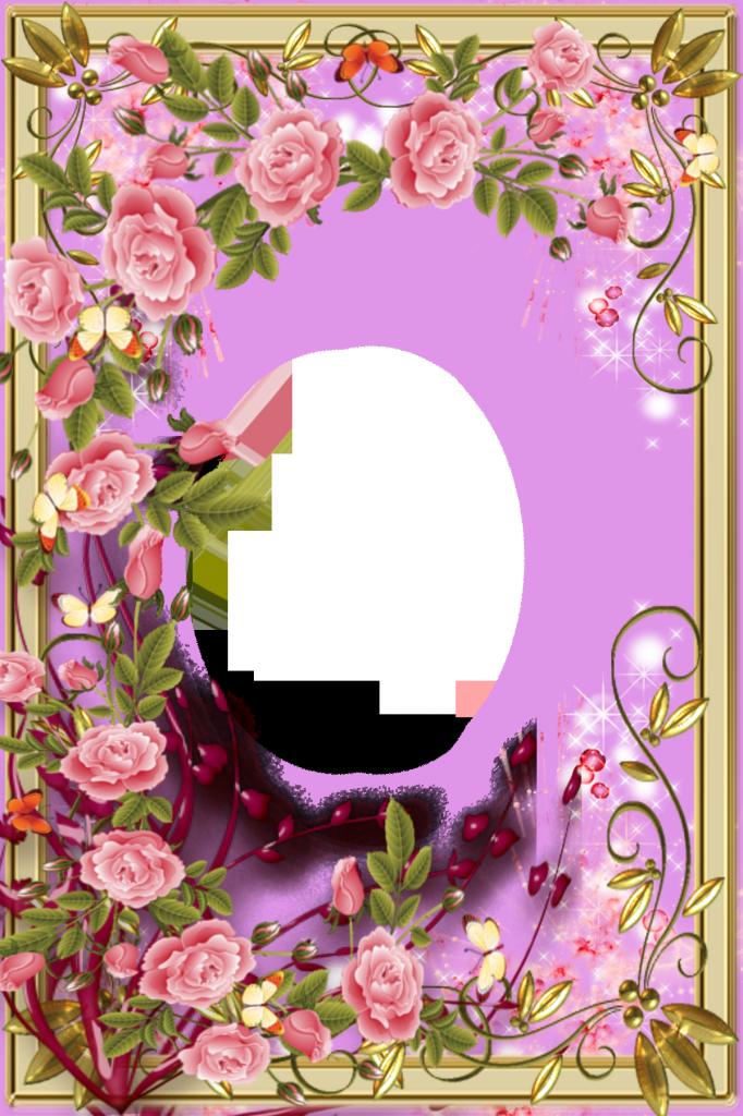 Добрый день, открытки с цветами рамки