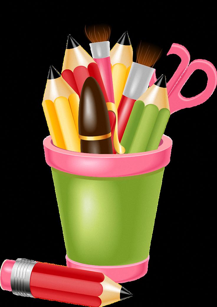 Картинка кисточки и карандаши