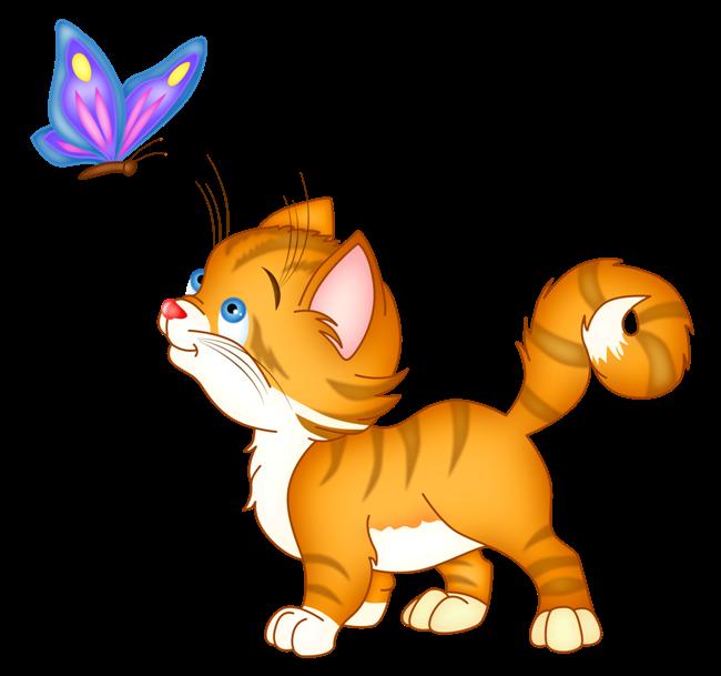 Картинка с изображением кота для детей