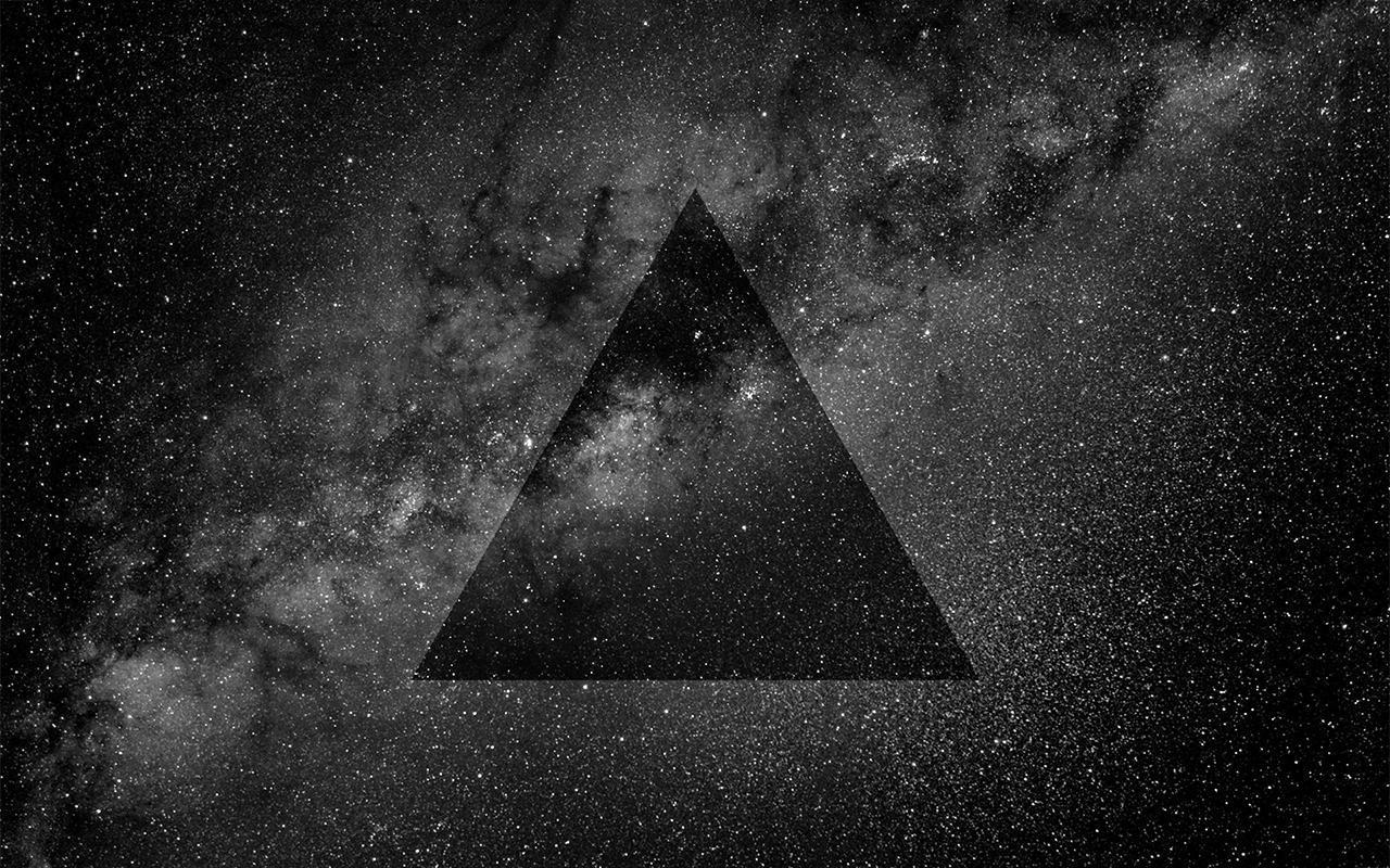 эффект фото в треугольнике шаблона, при котором