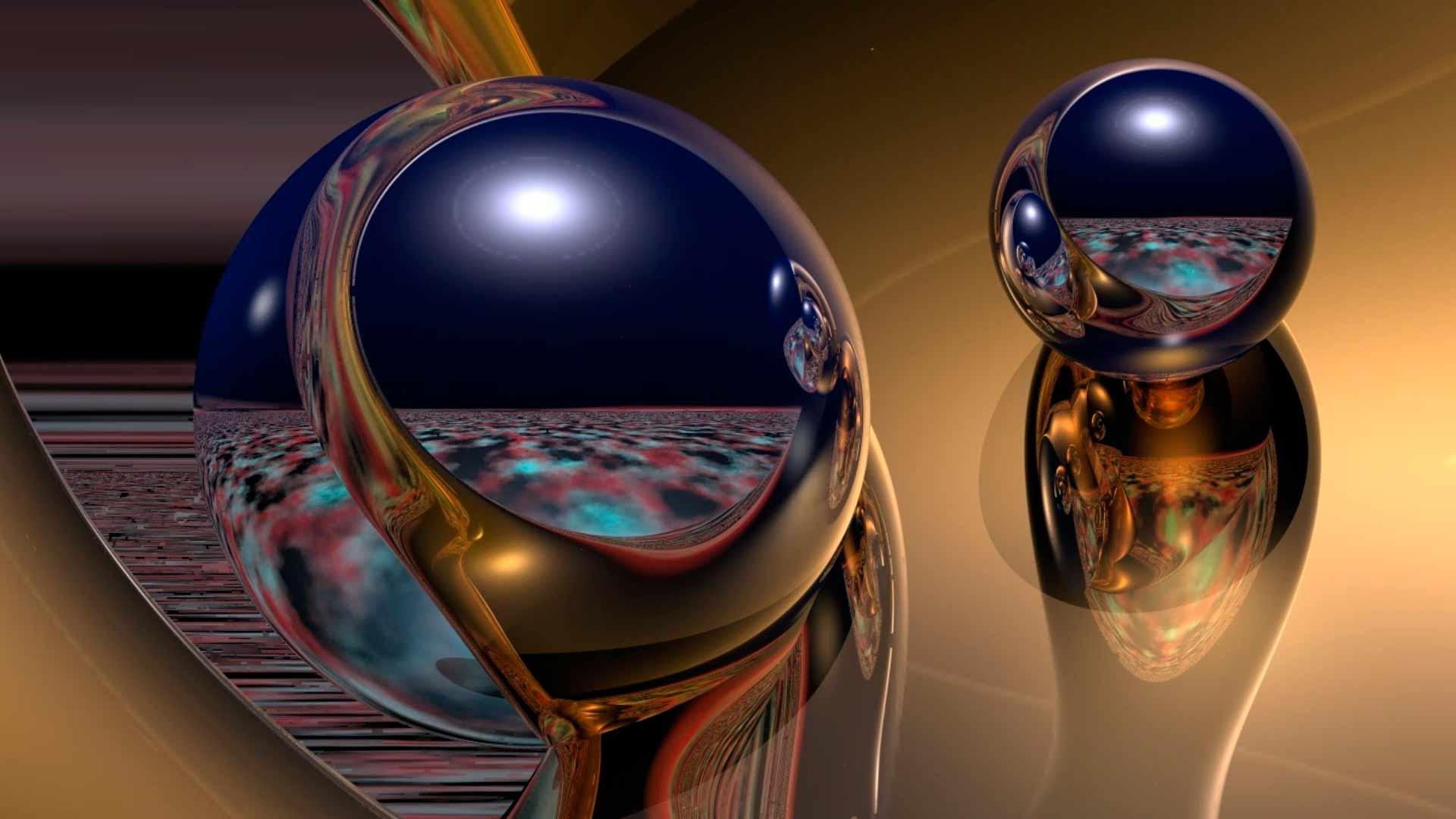 шар стеклянный отражение загрузить