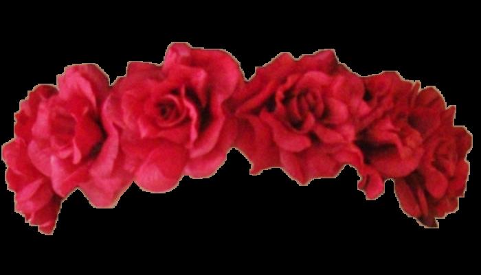 Transparent red flower crown
