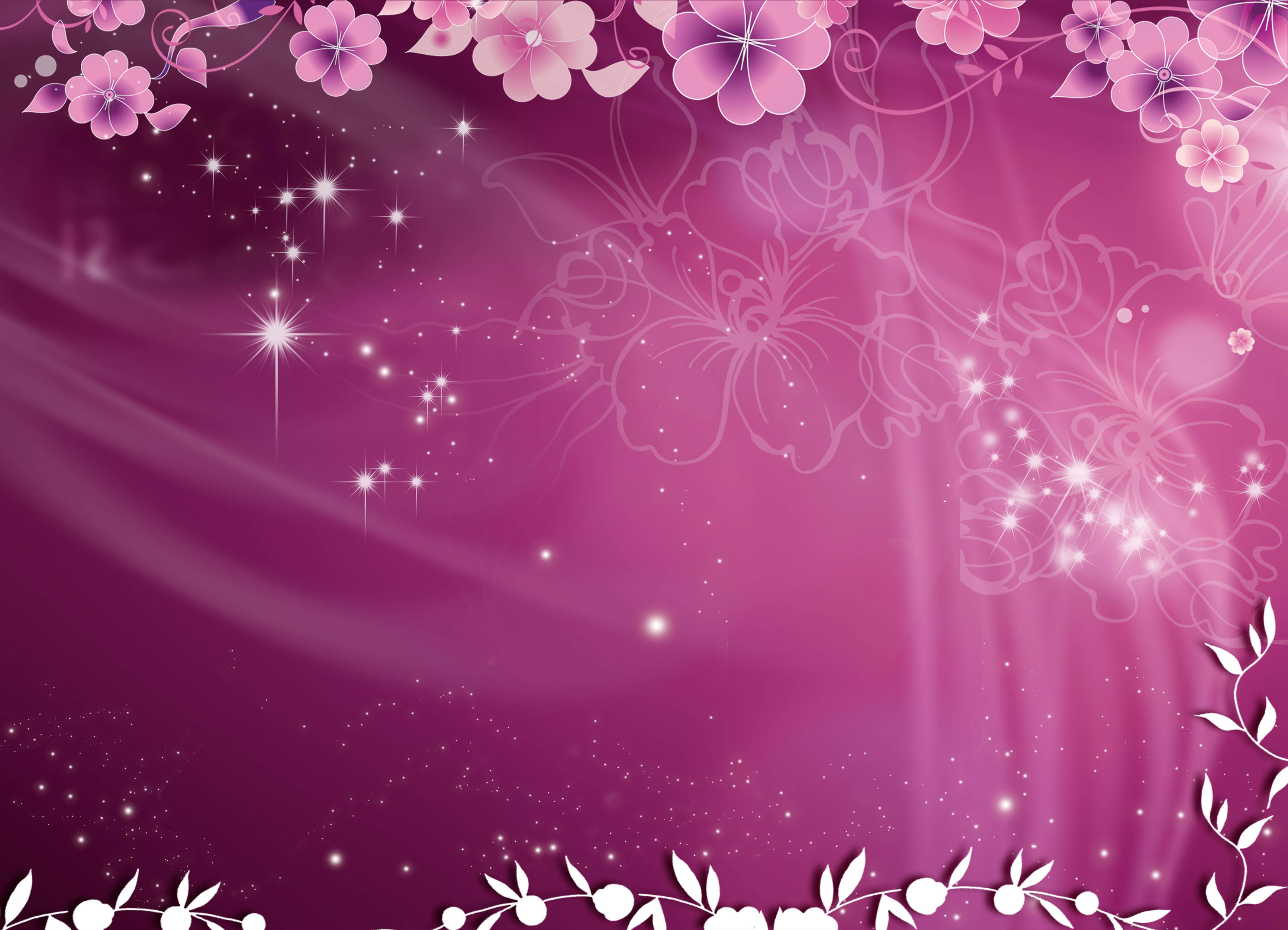 Цветочный фиолетовый фон 3
