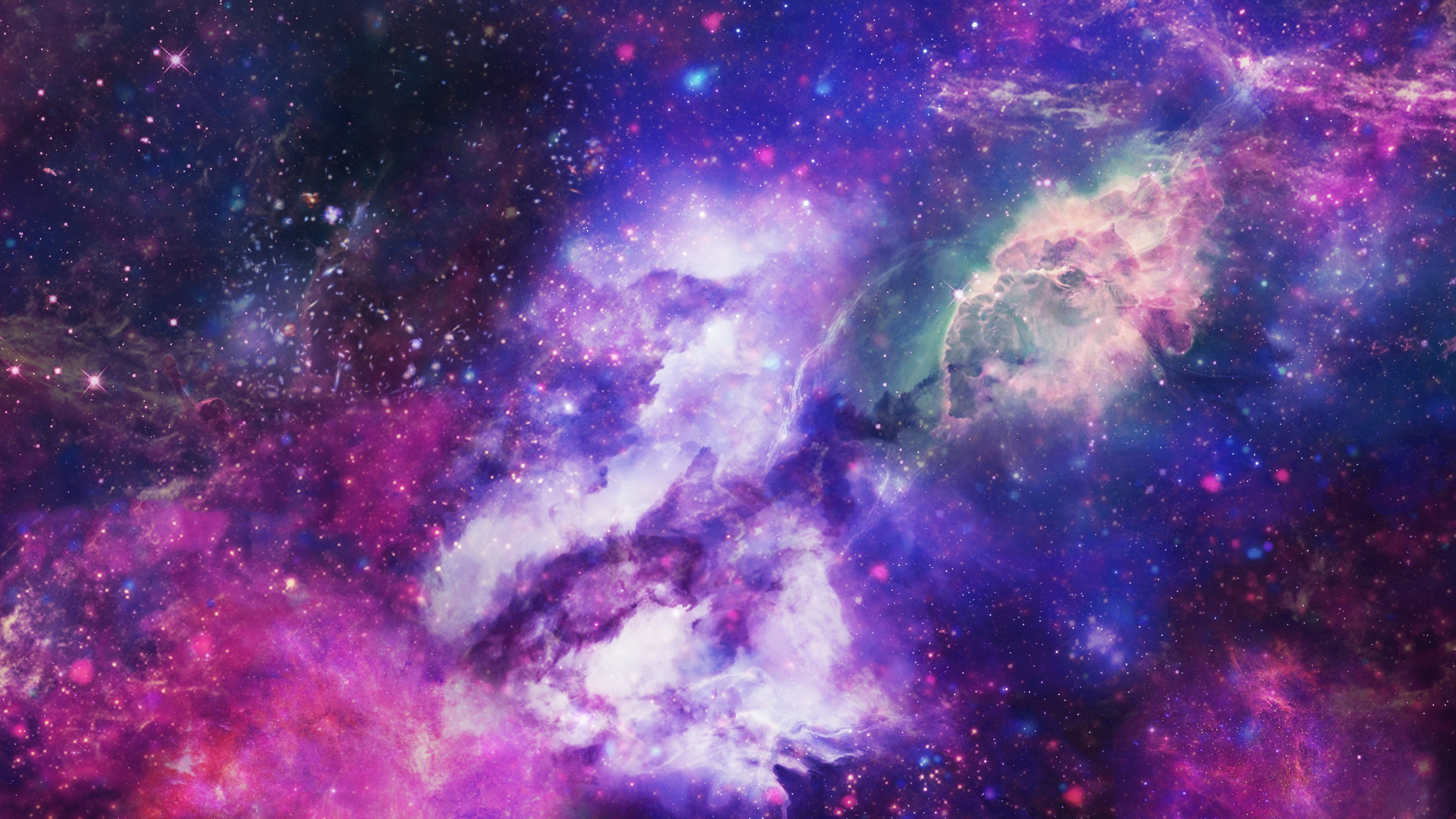 Как сделать космический фон на