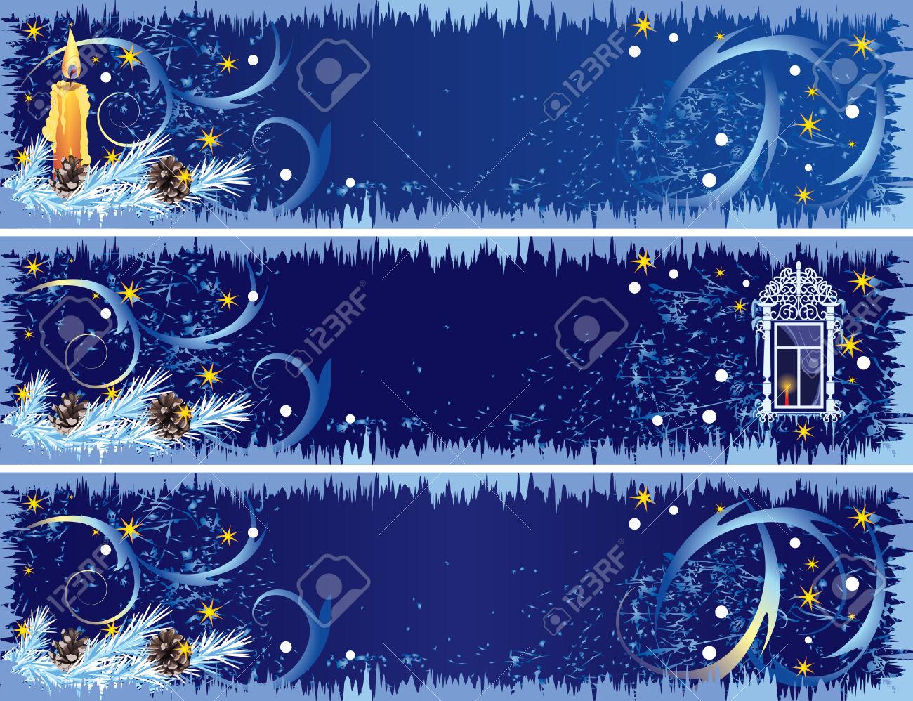 Новогодняя открытка панорама
