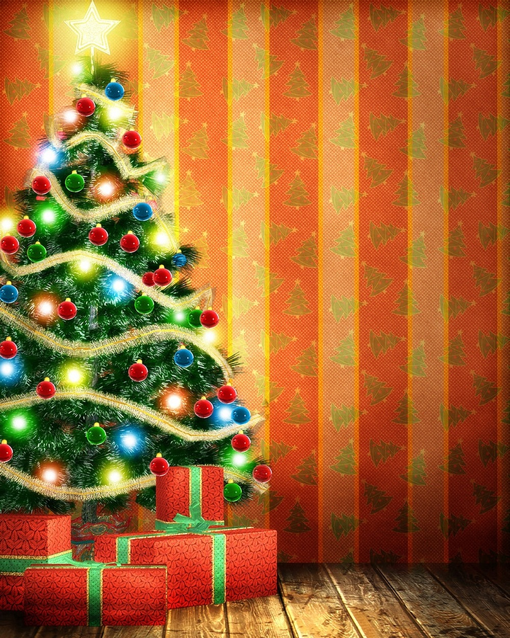 Новогодние елки картинки фон