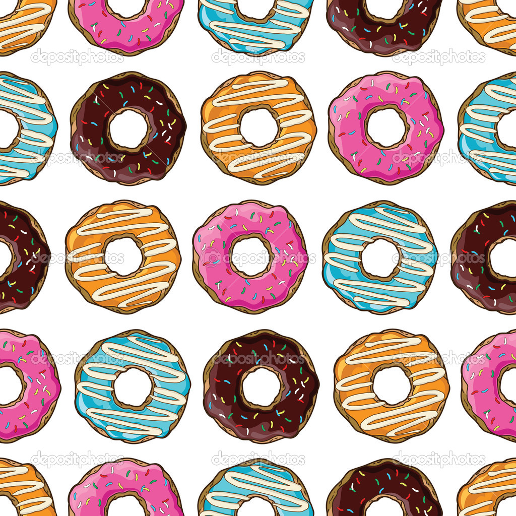 Фон с нарисованными пончиками