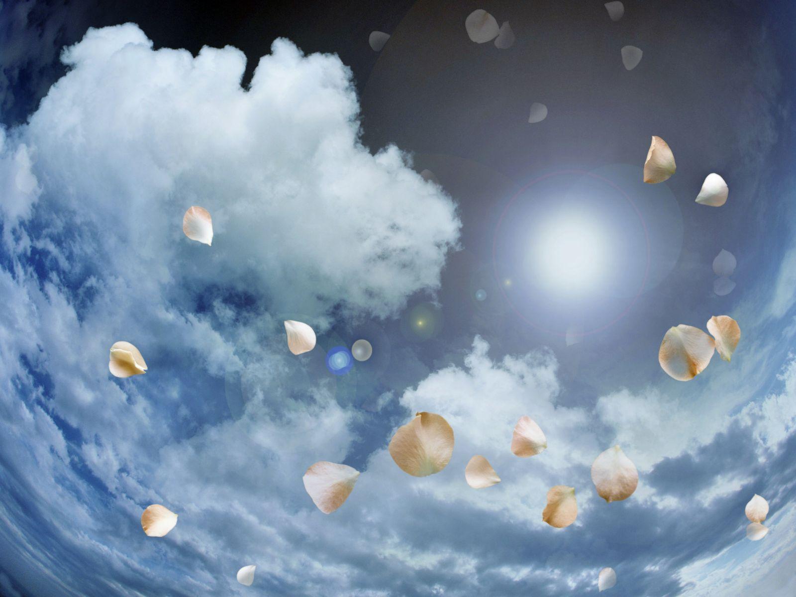 Фон для открытки облака