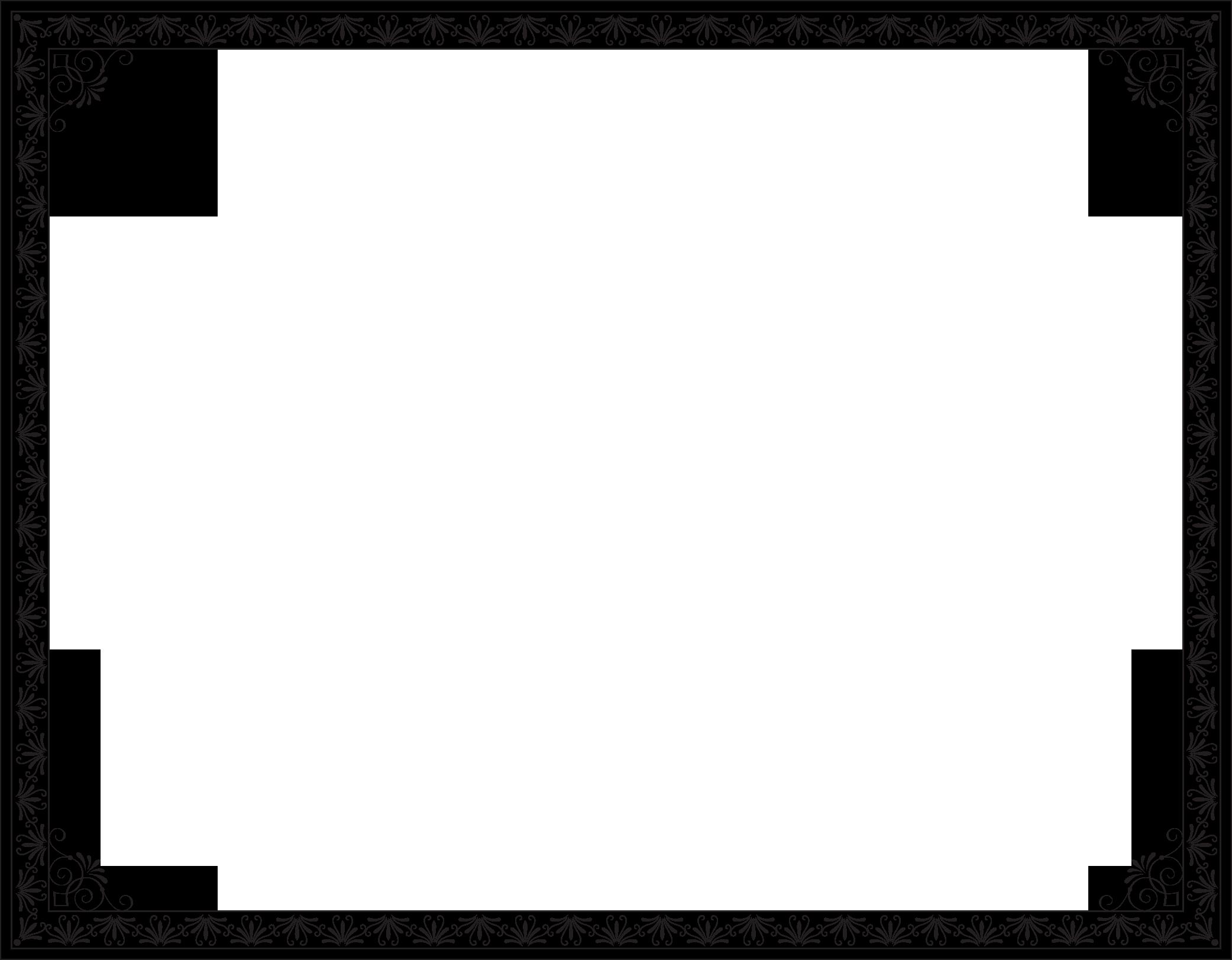 Чёрная рамка для поздравления с