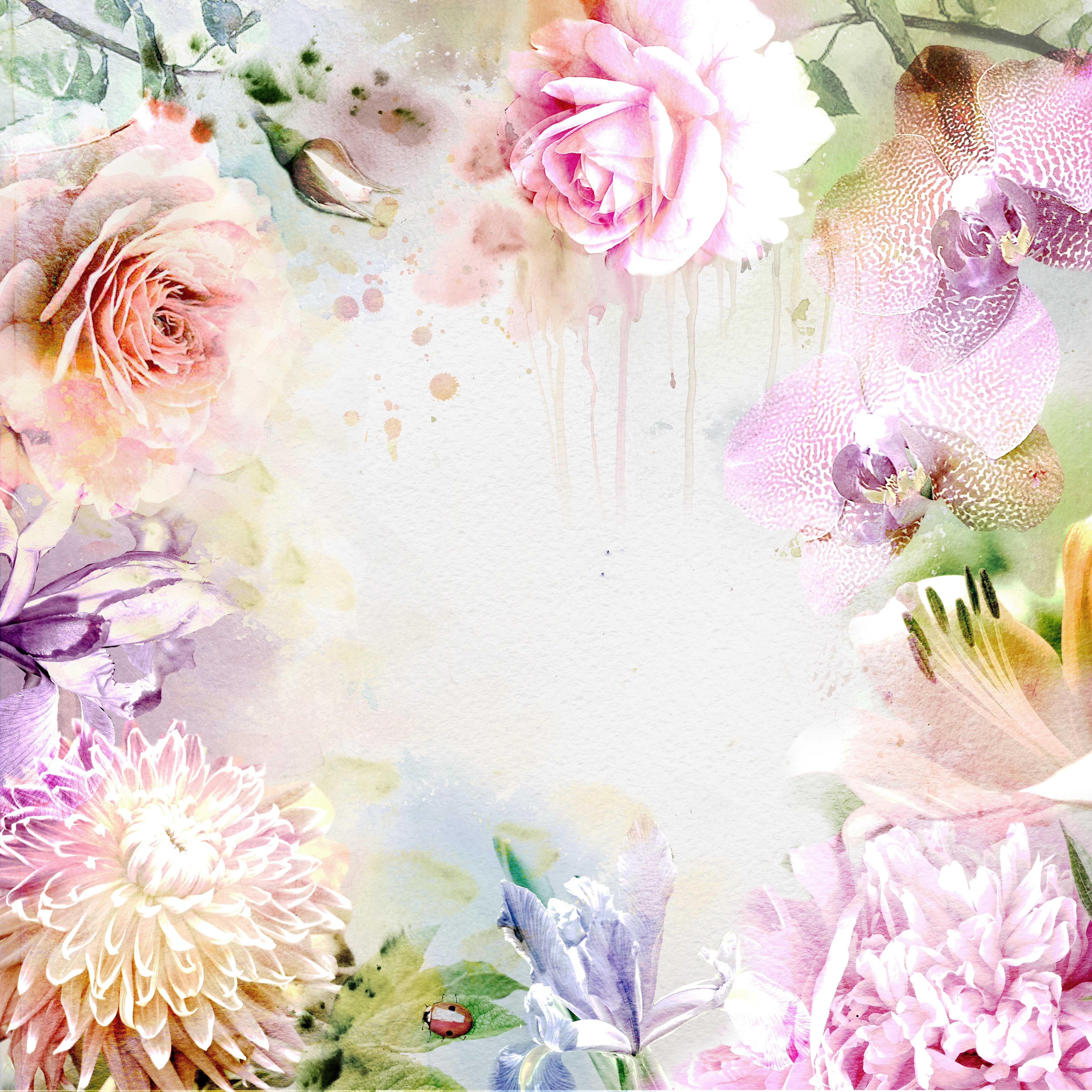 Рождением, картинка с нежными цветами для фона