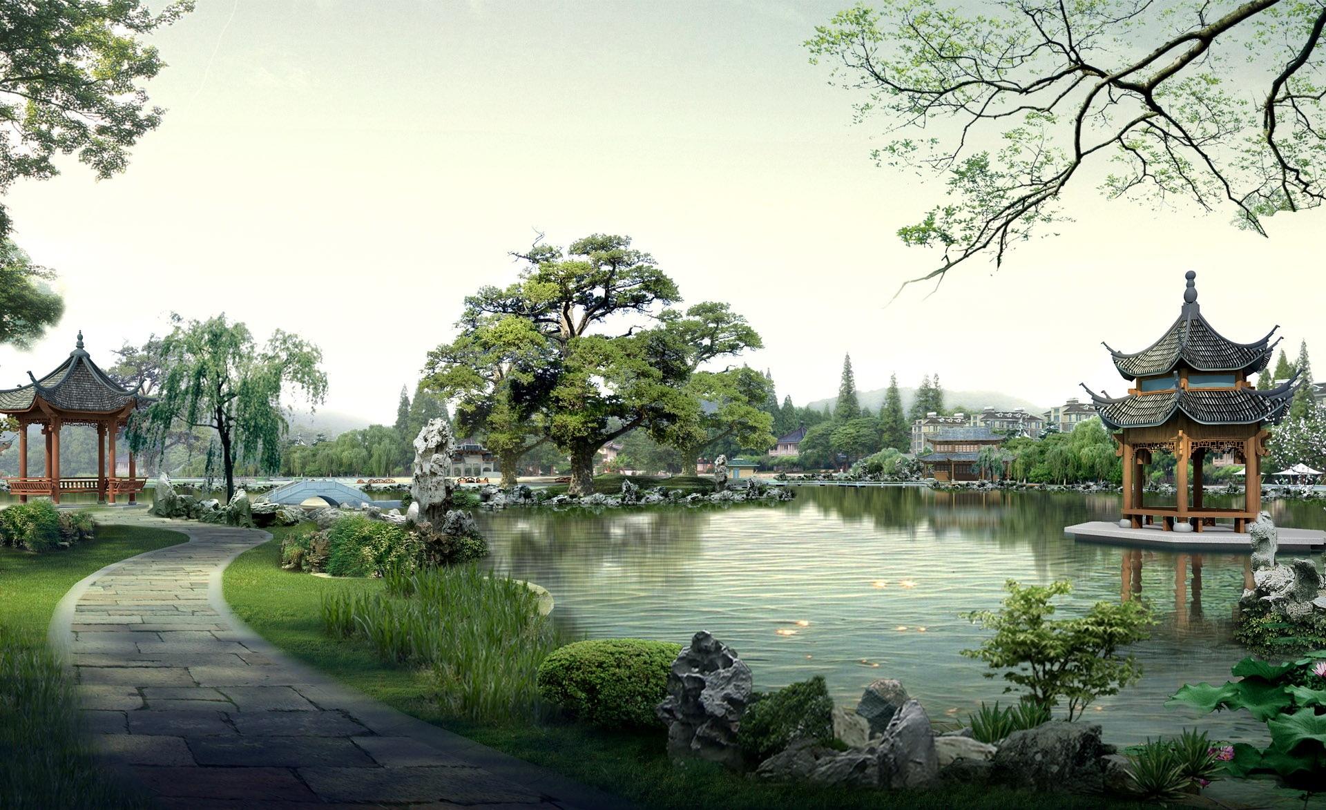 картинки с японскими пейзажами бесплатное, имеет