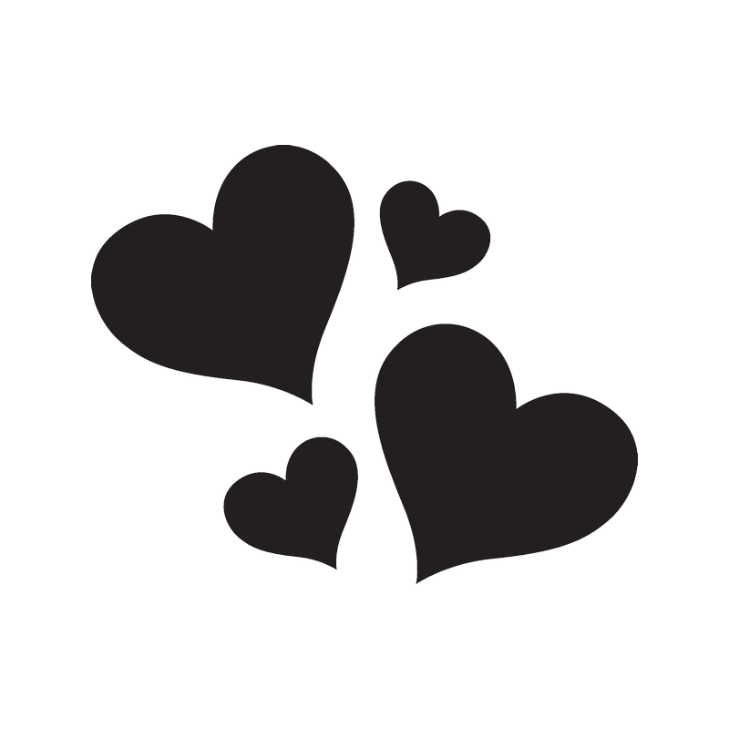 Картинки сердечек черно белые